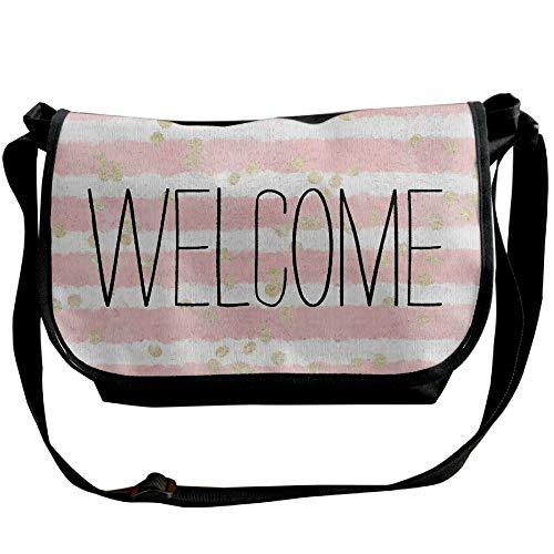 Messenger Bag Shoulder Fashion Handbag One Bags Womens Stripes Black Designer Pink White Welcome Casual wa0qIXc