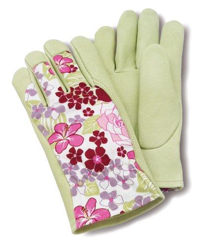 Pigskin Grain (Magid GC264T Grain Pigskin Glove with Floral, Back)