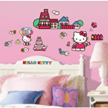 RoomMates RMK1678SCS Hello Kitty The World of Hello Kitty Peel and Stick Wall Decals