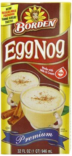 Borden Egg Nog, Shelf Stable, 32-Ounce (Pack of 6)