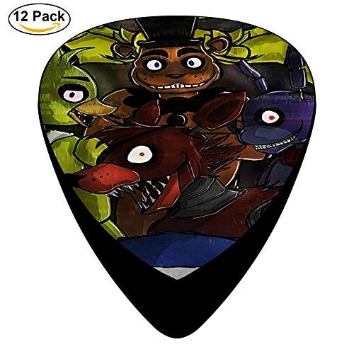 Bear_Freddy DIY 3D Custom Fashion Celluloid Bakelite Guitar Picks 12-Pack (Five Nights At Freddys Guitar)