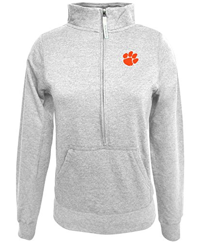 Alta Gracia Adult Women ½ Zip Fleece Sweatshirt, Gray, Small