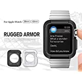 Photron Rugged Armor Case Cover Tough For Series 1 & 2 38Mm / 42Mm - Black (Compatible With Apple Watch)