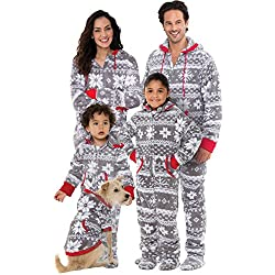 PajamaGram Onesie Nordic Fleece Hooded His and Hers Pajamas