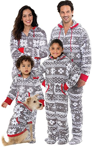 PajamaGram Onesie Nordic Fleece Matching Family Set