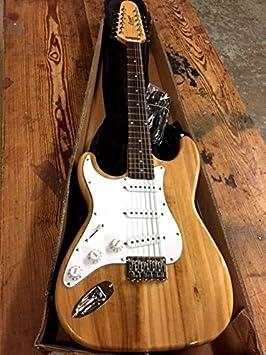 Nueva eléctrica de 12 cuerdas guitarra carcasa rígida de cola Strat estilo natural para zurdos Lefty: Amazon.es: Instrumentos musicales