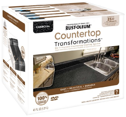 Rust-Oleum 258512 Counter Top Transformations, Small Kit, Charcoal Rust Oleum Stone Finish