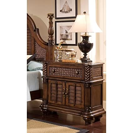 Progressive Furniture P142 45 Palm Court II Bedside Chest Nightstand, 37 X  18 X