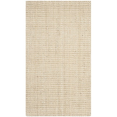 Ivory Jute Rug (Safavieh Natural Fiber Collection NF730A Hand Woven Ivory Jute Area Rug (2'3