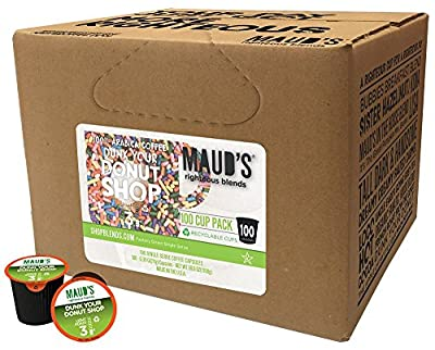 Maud's Gourmet Coffee Pods - Single Serve Coffee Pods - Richly Satisfying Premium Arabica Beans, California-Roasted - Kcup Compatible, Including 2.0 from Mauds Coffee