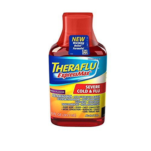 Theraflu Severe Cold & Flu Warming Relief Formula Syrup, Berry, 8.3 oz
