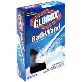 Amazon Com Clorox Bathwand Disposable Tub Amp Shower
