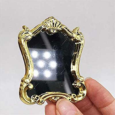 Gilroy 1/12 European Frame Mirror Toy for Dollhouse Accessories and Furniture, Miniature Scenes Model Playhouse Paty Favors: Toys & Games