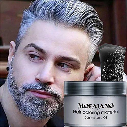 GARYOB Silver Grey Hair Wax Gel Cream 4.23oz Pomades Mud Natural ...