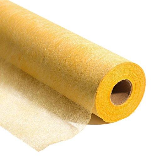 Yellow Gold Flame Retardant Gossamer Decorating Fabric, 19 Inches x 100 Yard ()