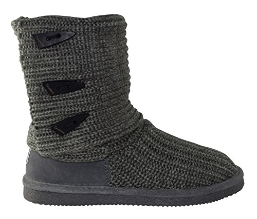 Tall 9 Grey BEARPAW 658 Boots Shearling Women's Knit W 4n4wqE801