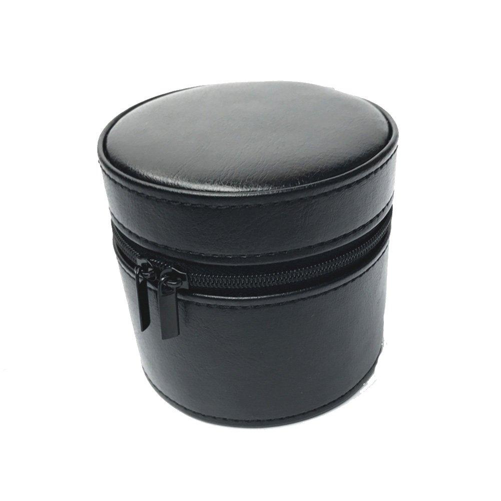 装飾ジュエリーボックス、Handy Watchボックスストレージボックス時計バッグ旅行腕時計ジッパーバッグブレスレットギフトSingle ブラック JYJFGHNV B079WYQR22ブラック