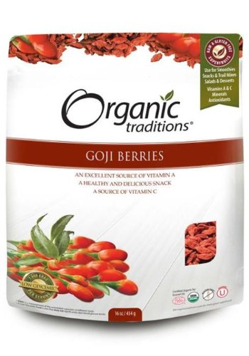 Goji Berries -Organic (454g) Brand: Organic Traditions