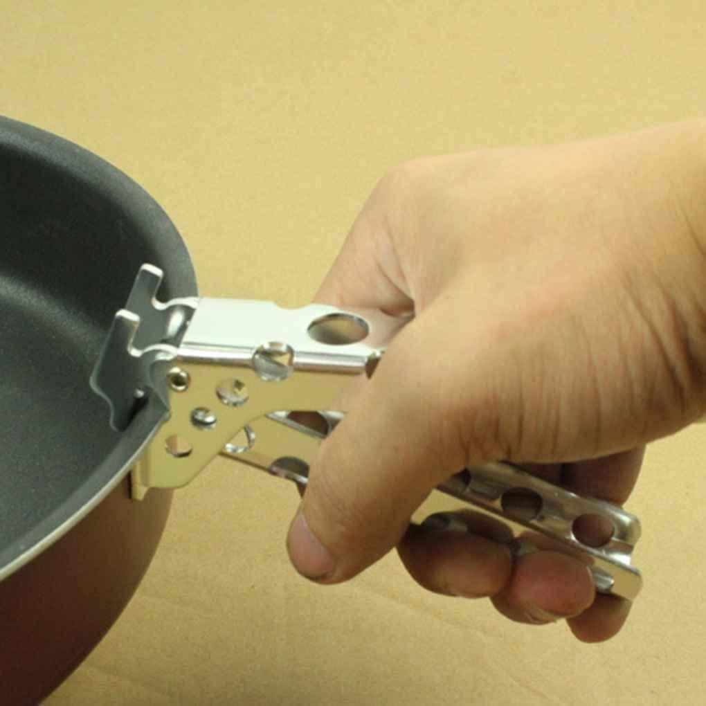 F-blue Acampar al Aire Libre Utensilios de Cocina Utensilios de Cocina Pan Pot Accesorio Pinza de aleaci/ón de Aluminio Pot alicates Abrazadera