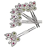 Amscan Box of 152 Butterfly Hair Pins Party Favours/Fillers