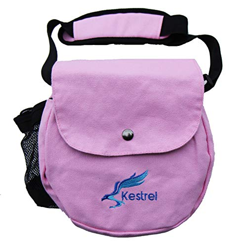 (Kestrel Disc Golf Bag   Fits 6-10 Discs + Bottle   for Beginner and Advanced Disc Golf Players   Extremely Durable Canvas   Disc Golf Bag Set   Small Disc Golf Bag (Pink))