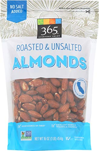(365 Everyday Value Almonds Roasted & Unsalted, 16 Ounce)