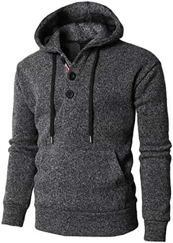 09b87bb6 CieKen Mens Novelty Color Block Hoodies Cozy Sport Outwear Sweatshirt  Jacket Sports & Outdoors Athleisure