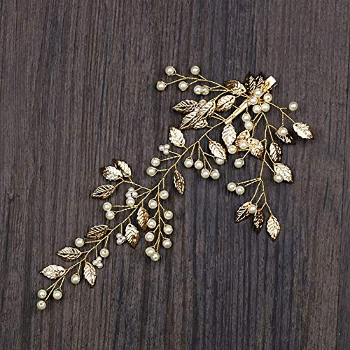 Hair Jewelry - 1pc Hair Band Gold Leaves Clip Bride Headwear Wedding Women Jewelry Banquet W77 - Sets Rose Chain Vines Stars Bride Girls Braids Medieval Gold Pendants Jewelry Masquerade P - Assy Pick