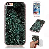 """IPhone 6 plus /iPhone 6s plus (5.5"""") Case, FuBaoBao Marble Pattern design TPU Material with Slim Fit Snap On Protective Back Case - Deep green"""