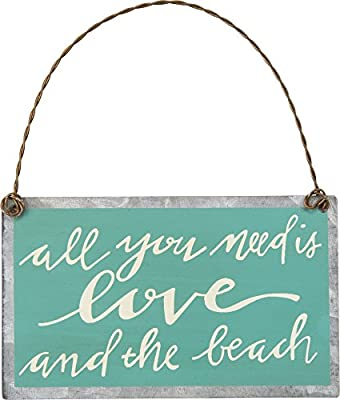 All You Need Is Love And The Beach - Coastal Tin Ornament 3-3/4-in