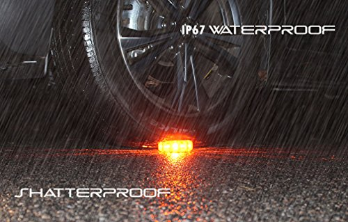 LED Road Flare   Emergency Roadside Safety Disc Marine Flashing Light Beacon for Car Truck Boat with Storage Bag and Batteries   New 2018 Kit (Pack of 3) by OMEGAWARE (Image #3)