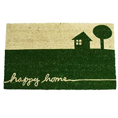Rubber-Cal  Happy Home  Country Door Mat, 18 by 30-Inch