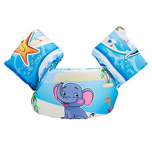 HomDSim Puddle Jumpe Kids Toddler Life Jacket Baby Swim Float Kids Swim Life Vest/Kids Swimming Floats Vest for Kids-Flotation Device 30-50 lbs (Elephant)