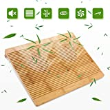 Laptop Stand Cooling Pad Nnewvante 100% Bamboo
