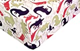 Dino Delight 100% Cotton (FITTED SHEET ONLY) Size TODDLER Boys Girls Kids Bedding