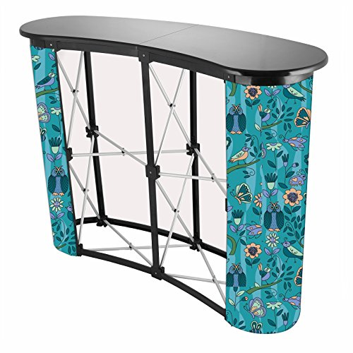 VEVOR Trade Show Counter Aluminum Alloy Structure Pop Up Podium Counter with 2x2 Grid Forms Portable Trade Show Exhibit Counter for Expo Exhibition Presentation by VEVOR
