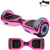 NHT Electric Hoverboard Self Balancing Scooter with Built-in Bluetooth Speaker LED Lights - Safety Certified for Adult Kids Gift