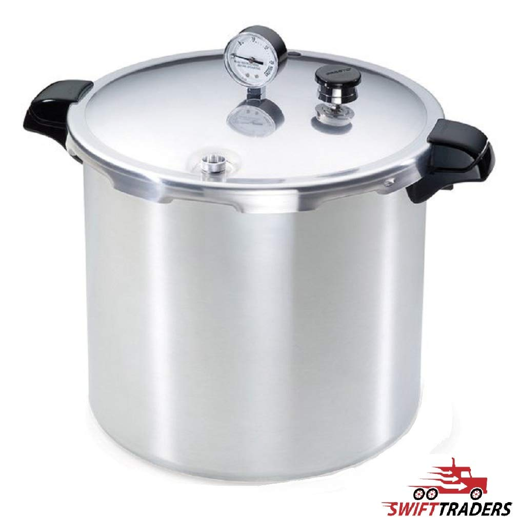 23 Quart Aluminum Pressure Canner- Comes with Free Chef Knife