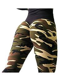 Domple Womens Yoga Camo Athletic Leggings Skinny Jogger Running Trouser Pants
