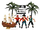 Cakesupplyshop Pirate Ship Pirate Revenge Happy Birthday Sign Mini Cake Decoration Toy Cake Topper
