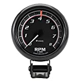 Equus 6086 Black Tachometer - Measures 2 1/2-Inches