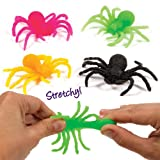 Stretchy Spiders for Children to Play with Perfect Party Bag Filler Small Gift Idea for Kids (Pack of 12)