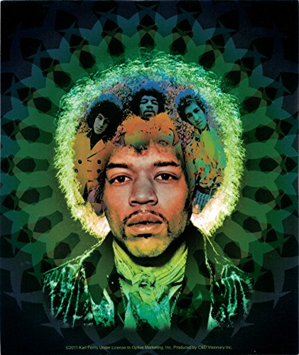 Jimi Hendrix Experience - Blue and Green Band Art - Bumper Sticker / Decal