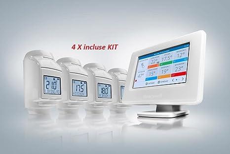 PACK AHORRO TERMOSTATO WIFI Evohome connected pack + 4 termostatos de radiador HR92