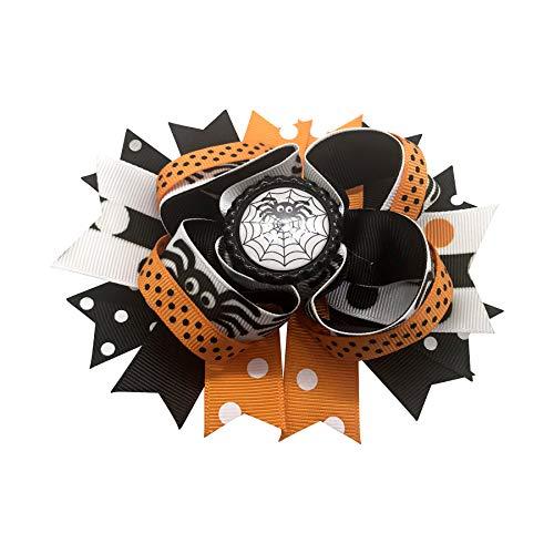 Halloween Spider Hair Bow, Little Girl Bows, Toddler