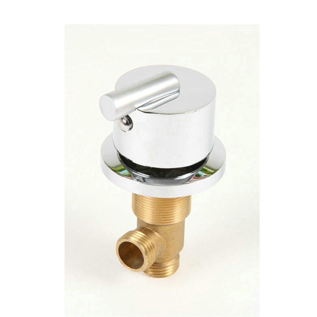 YU-Bathroom Hot and Cold Water Brass Switch Valve for Bathtub Faucet Shower Mixer, Bathtub Set Faucet,Bath Faucet Control Valve A