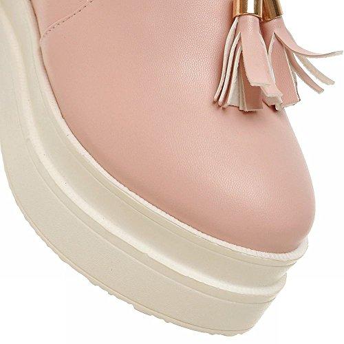 Mee Shoes Damen bequem modern süß runder toe mit Quaste invisibel Heel Geschlossen Durchgängiges Plateau Freizeitschuhe Pink