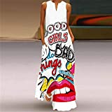 Aniywn Women's Sleeveless Long Maxi Dress Floral