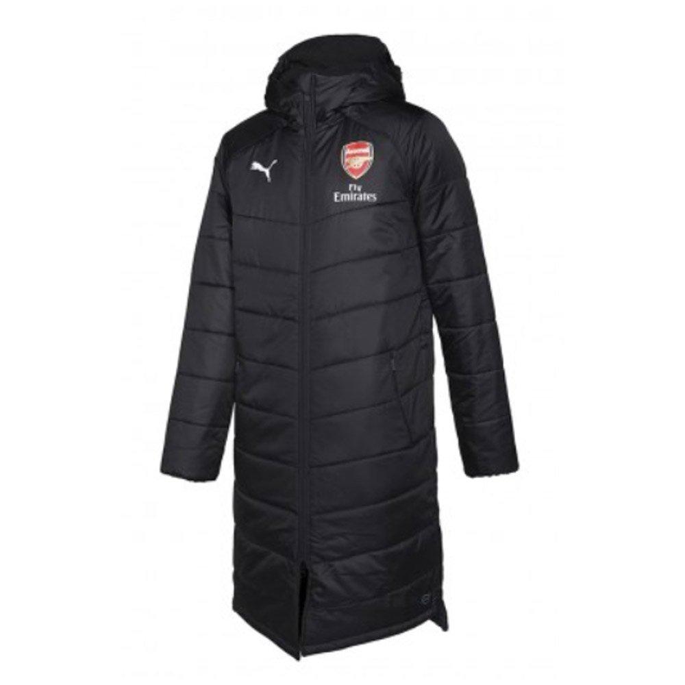 Puma 2018-2019 Arsenal Long Bench Jacket (schwarz)
