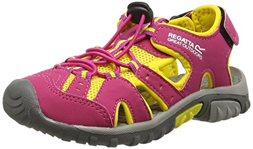 Regatta Deckside Jnr - Zapatillas de running Niñas Rosa (Cabaret/Yell)